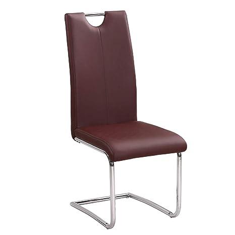 Kayelles - Axel - Juego de 4 sillas de símil cuero para ...
