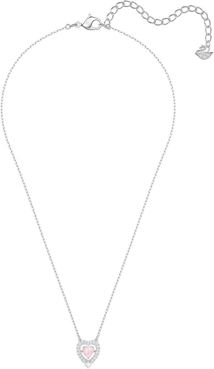 Swarovski Sparkling Dance Heart Necklace, Pink 5465284