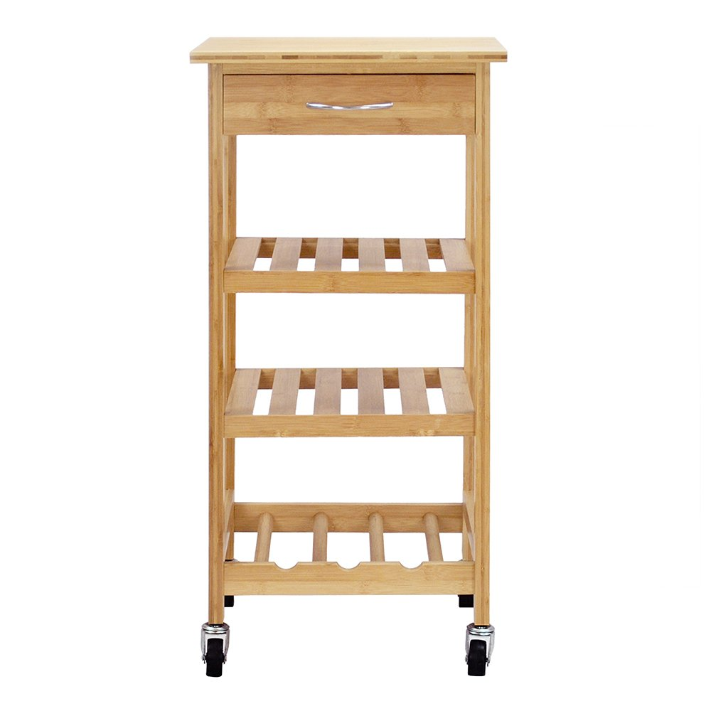 Oceanstar Design Group Bamboo Kitchen Trolley by Oceanstar (Image #2)