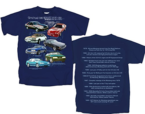 79 to 93 Ford Fox Body Mustangs - Seven Mustang's- Men's T-Shirt By Joe Blow Tee's (Ford Items)
