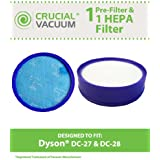 Crucial Vacuum 608819398846 1 Dyson DC-27/DC-28 Washable and Reusable Pre-Filter and Post HEPA Filter, Compare to Part No.919780-01 and 915916-03