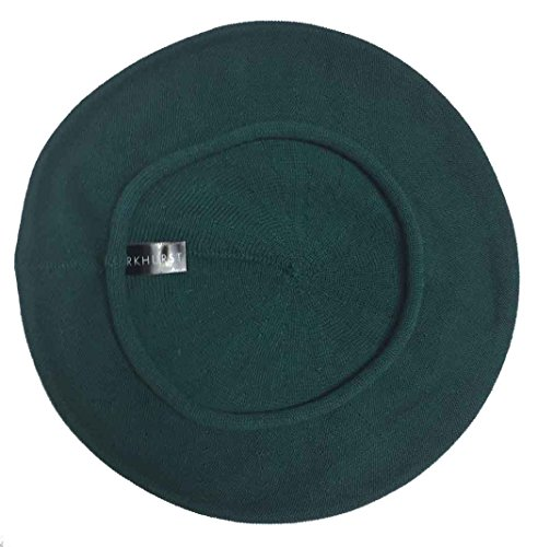 Parkhurst of Canada 10-1/2 Inch Cotton Knit Beret (Deep Teal)