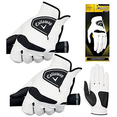 New Improved (2 PACK) Callaway Men's Xtreme 365 Golf Gloves - Choose Your Size (Medium, Worn on LH) (Callaway Golf Glove)