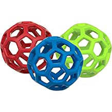 JW Pet Company Mini Hol-ee Roller Dog Toy, Colors Vary - Pack of 3
