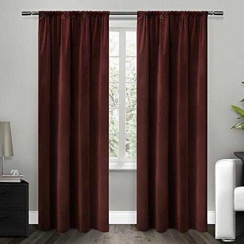 cotton velvet with blackout lining rod pocket window curtain panel liner 54x96 642472007004 ebay. Black Bedroom Furniture Sets. Home Design Ideas