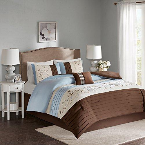 Comfort Spaces – Verene Comforter Set - 5 Piece – Blue B
