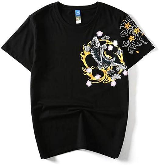 HIAO T Shirt Manche Courte Impression Jeunesse Adolescent