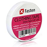 Image of XFasten Clothing Tape Hypo-allergenic, White, 5/8-In x 30-Ft Dress Tape for Fashion