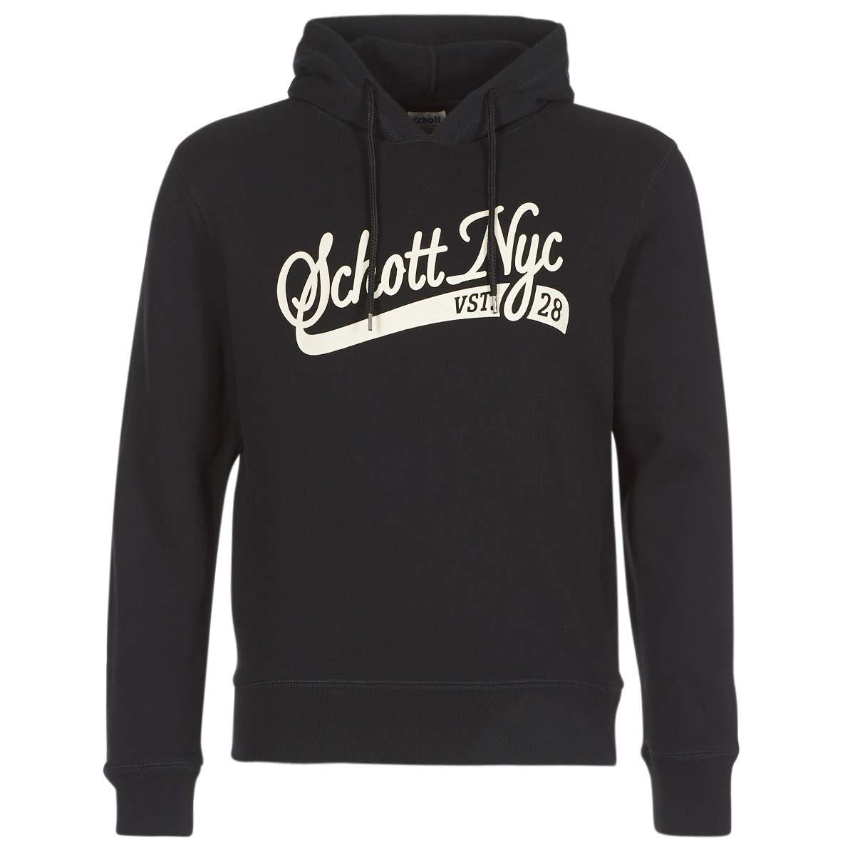 Schott Black Logo Hoodie