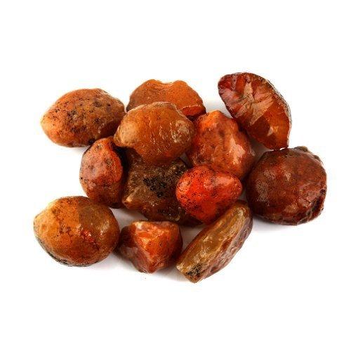 Crystal Allies Materials: 1lb Bulk Rough Carnelian Stones - Large 1