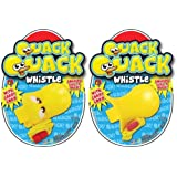 2 Count Quack Quack Duck Whistles with Carry Cord