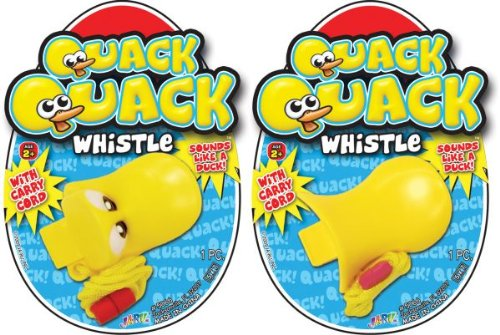 2 Count Quack Quack Duck Whistles with Carry (Whistle Clasp)