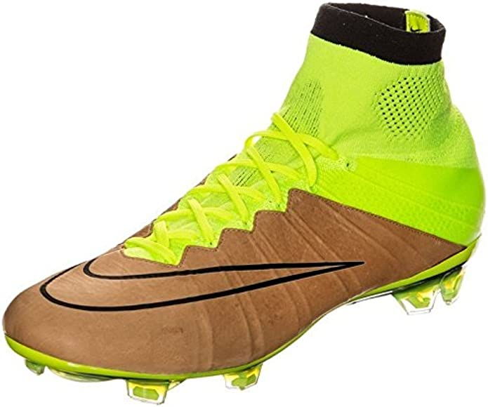a8dc40f0b541 Amazon.com | Nike Mercurial Superfly Tech Craft FG-Canvas/Volt/Black (12) |  Soccer