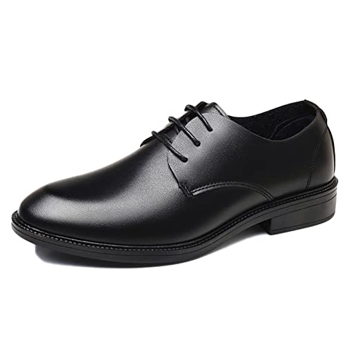 f501a437570 nihiug Brown Leather Shoes Mens Derby Wedding Lace-up Business Shoes Dress Shoes  Soft Base