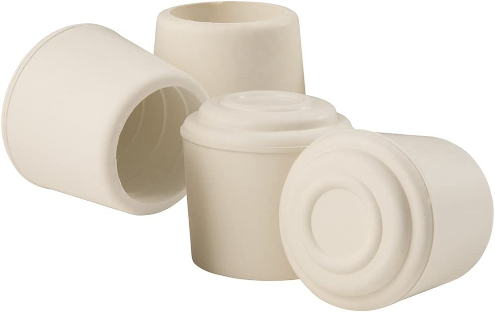 "SoftTouch Rubber Leg Tip (4 Piece), 1-1/4"", White"