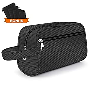 Hanging Toiletry Bag – Portable Travel Bags for Men/Women, Shaving/Grooming/Cosmetic/Toiletries, 4 Sizes Shoes Organizer Pouch for Business Trip and Vacations