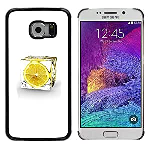 CASEMAX Slim Hard Case Cover Armor Shell FOR Samsung Galaxy S6 EDGE- LEMON ICE CUBE
