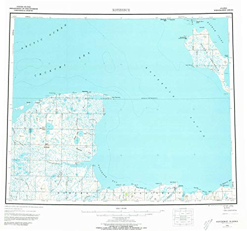 YellowMaps Kotzebue AK topo map, 1:250000 Scale, 1 for sale  Delivered anywhere in USA
