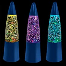 Blue Shake & Sparkle Light Up Mini Rocket Lamps