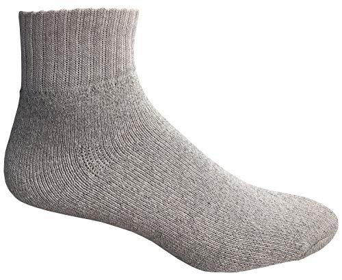 WSD Mens Ankle Socks, Wholesale Bulk Pack Athletic Sports Sock (180 Pairs Gray) by Wholesale Sock Deals (Image #3)