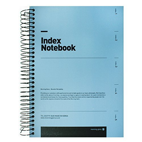 Morning Glory Prima Notebook Hardcover Strong Durability Cute 200 pgs Mint Blue]()