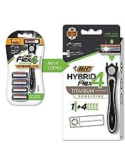 BIC Flex 4 Sensitive Hybrid Men's 4-Blade Disposable Razor,