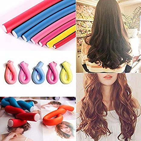 RAAYA Curlers DIY Styling Soft Curler Foam Tool Professional Hair Roller Self Sponge  Multicolour    Set of 10 Pieces Curl Enhancers