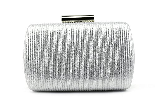 Ruiatoo Silver Clutch for Women Luxury Evening Handbag For Cocktail/Wedding/Party ()
