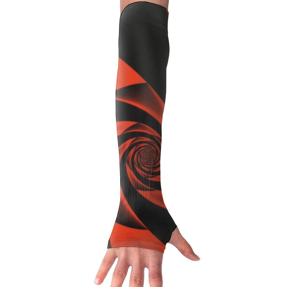 Valentines Day Red Rose Swirl Sun Sleeves,UV Protection Cooling Arm Sleeves For Men Women (1 Pair)