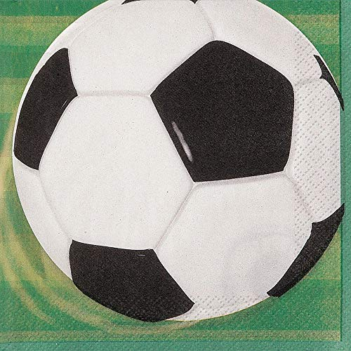 BirthdayExpress Soccer Beverage Napkins -