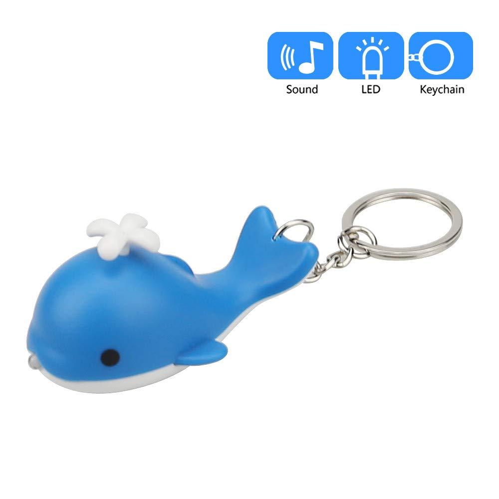 Llavero con diseño de delfín de Dibujos Animados con luz LED ...
