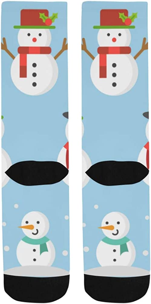 White Snowman Winter Mascot Crazy Soccer Knee Dress Trouser Sock Women Botts