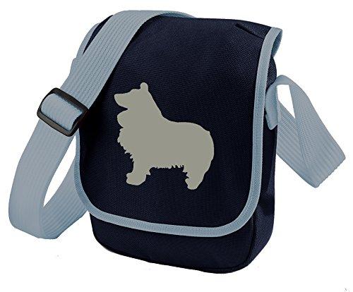 Gift Choice Bag of Shetland Shoulder Grey Sheltie Blue Dog Sheltie Dog Bag Colours Sheltie Reporter Bag Sheepdog Bag Silhouette xR77Pq