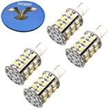 HQRP 4-pack T10 Wedge Base 30 LEDs SMD 3528 LED Bulbs Warm White for #194#168 Cruiser RV Fun Finder Travel Trailer RV Interior/Ceiling Lights Replacement plus HQRP Coaster