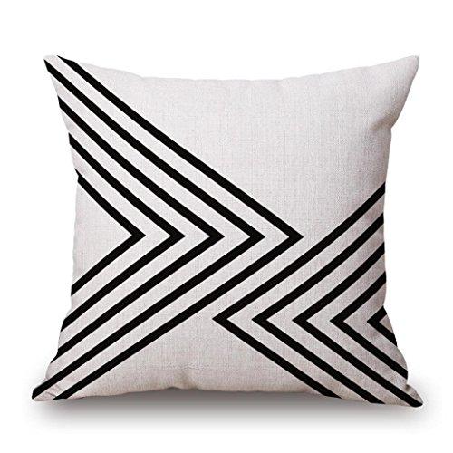 Pillow Case, AmyDong Cotton Linen Square Throw Pillow Case (A)