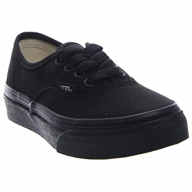 Image Unavailable. Image not available for. Color  Vans Kid s Authentic  Black Black Skate Shoe 2.5 8f23089d8
