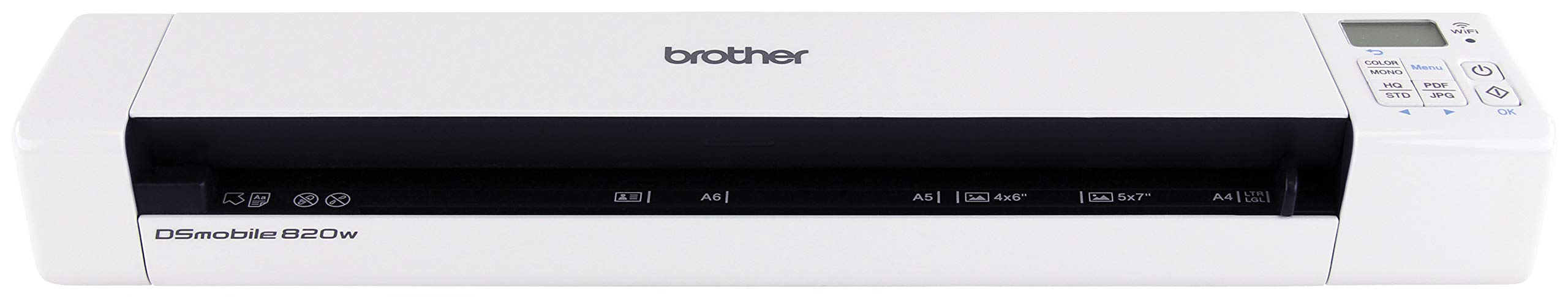 Brother Mobile Color Page Scanner, DS-820W, Wi-Fi Transfer, Fast Scanning, Compact and Lightweight by Brother