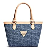 Guess Women's Aislin Denim Medium Tote Bag Handbag