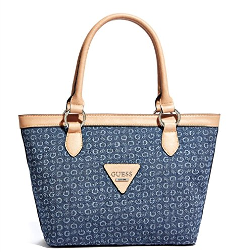 Guess Women's Aislin Denim Medium Tote Bag Handbag