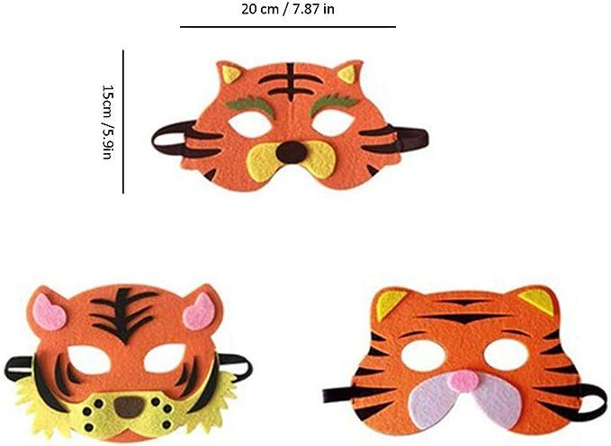 Nearthuk - Máscara de Tigre de Vaca para Disfraz de Halloween, 3 ...