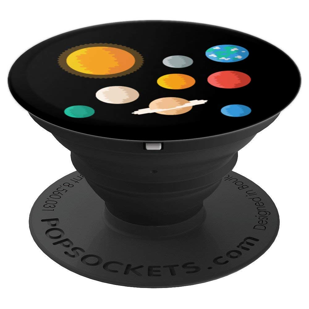 Planets Atomic Astronomy Universe Science Teacher Scientist - PopSockets Grip and Stand for Phones and Tablets
