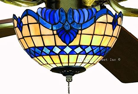 Tiffany street 25036 blue baroque stained glass ceiling fan kit tiffany street 25036 blue baroque stained glass ceiling fan kit aloadofball Image collections