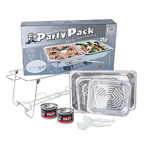 Party Pack 8 Piece, Buffet Chafer Food Warmer Wire Frame Stand Rack Chafing (Chafer Rack)