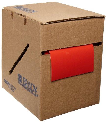 Marking Red Aisle Tape (Brady ToughStripe Nonabrasive Floor Marking Tape, 100' Length, 3