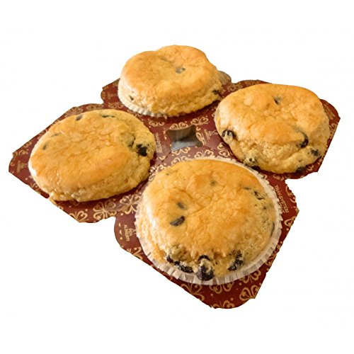 Low Carb Chocolate Chip Muffins (4 Pack) - Fresh Baked - LC Foods - All Natural - No Sugar - Diabetic (Baked Muffins)