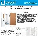 Ubiquiti UniFI AP Outdoor+ Wi-Fi 802.11 b/g/n, 2.4 GHz speed, speed upto 300 Mbps
