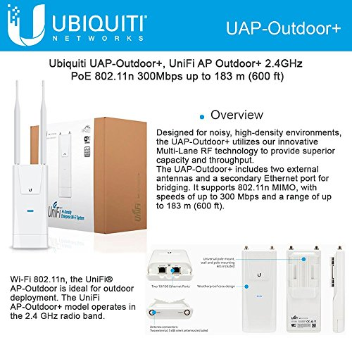 Ubiquiti UAPOUTDOOR+US Unifi UAP-Outdoor+ Wireless Access Point 802.11 B/G/N by Ubiquiti Networks