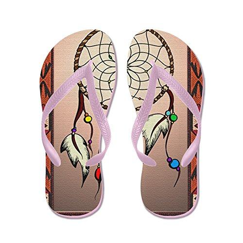 Cafepress Zuidwestelijke Dreamcatcher Tapijt - Flip Flops, Grappige String Sandalen, Strand Sandalen Roze