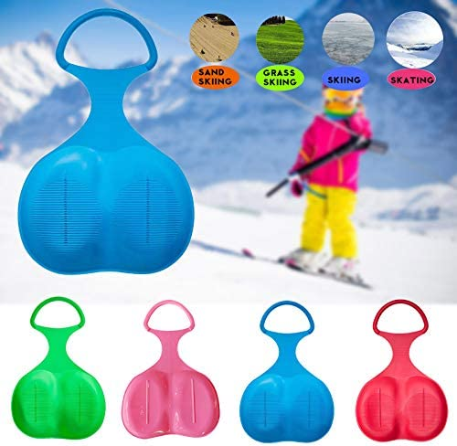 Jesaisque Snow Sled Board,Outdoor Winter Plastic Skiing Boards Snowboard Sled Luge for Kid