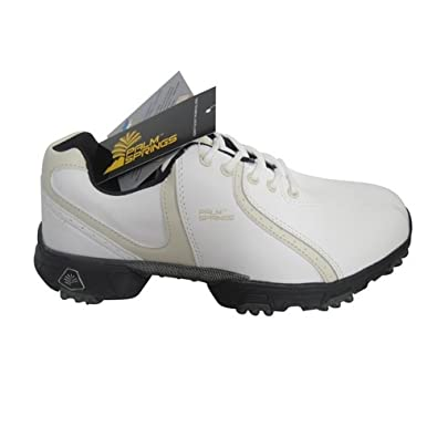 Palm Springs Waterproof Leather Golf Shoes White Tan Lady Size 6.5 b34fbcbd4d7